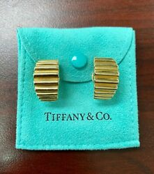 And Co. Clip On Earrings 18k Yellow Gold Pouch Included