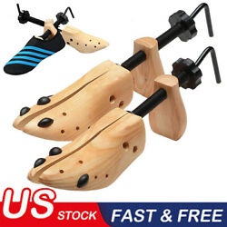 One Pair 2-way Wooden Adjustable Shoe Stretcher for Men Women Size 9-13 BA