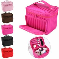 Large multiplepockets Cosmetic Case Makeup Bag Storage Handle Organizer Travel $10.22