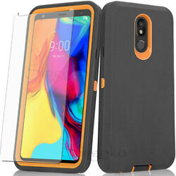 RUGGED ARMOR SHOCKPROOF Defender Phone Case Cover BUILT IN SCREEN PROTECTOR $8.94