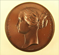 France -1866- Empress Visit To The Banquede France -copper By Bovy -very Rare