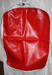 New Libertyville Red And White Hanging Horse Harness Vinyl Storage Bag - 25 X 35