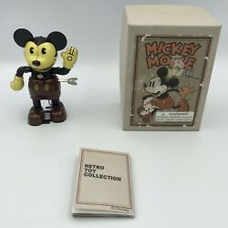 Schylling Retro Toy Collection Disney Mickey Mouse 60070 Tin Wind Up Toy
