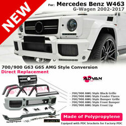 For 02-17 W463 G-class G63 Amg   Style Black Grille Front Bumper Lip Splitter