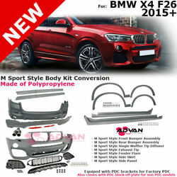 For 15-18 Bmw X4 | M Style Body Kit Rear Front Bumpers Fender Flares Side Skirts