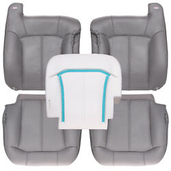 2000-2002 Chevy Tahoe Suburban Front Row Leather Kit W/ Driver Foam - Gray