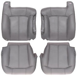 2000-2002 Chevy Tahoe Suburban Front Row Factory Match Leather Kit - Pewter Gray