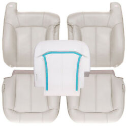 2000-2002 Chevy Tahoe Suburban Front Row Leather Kit + Driver Foam - Shale Tan