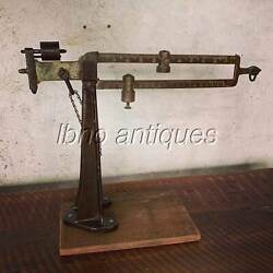 Large 30 Brass And Cast Iron Howe Balance Scale On Pedestal. L@@k
