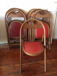 Vintage/ Antique Solid Wood Folding Bentwood Style Chair W/ Padded Seat Great
