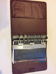 Franklin Covey Day Planner Binder W Accessories Used Vintage