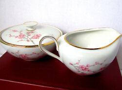 Hutschenreuther Selb Almond Blossom Creamer And Covered Sugar Bowl 8386