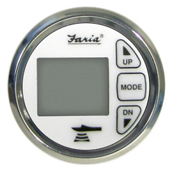 Faria 2 Dual Depth Sounder W/air And Water Temp Transom Mount Transducer 13852