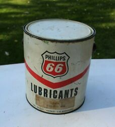 Phillips 66 1 Gallon Vintage Grease Can Philube Mw 9416