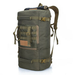 50l Tactical Trekking Backpack Oxford Camo Military Molle Bag Hiking Camping Bag
