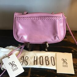 NWT $178 HOBO Bags Quill Leather Crossbody in Lilac $55.00