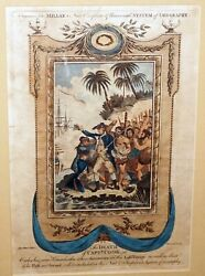 1780s English Color Engraving Print Death Of Captain Cook By Millar'scsbho2329