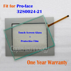 Touch Screen Glass + Film For Pro-face 3280024-21 328002421 One Year Warranty