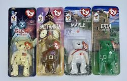 Tag Errors Ty Beanie Babies Ronald Mcdonald House Charities Complete Set Of 4