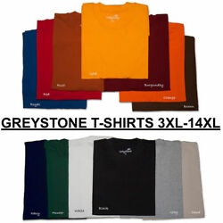 tshirts BIG and TALL Greystone T Shirts HEAVY DUTY 3X 4X 5X 6X 7X 8X 10X 12X 14X $25.66
