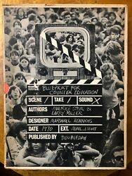 Blueprint For Counter Education Stein Miller 1970 Vintage Posters 1st Edition