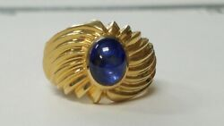 Vintage 1.00ct Sapphire 14k Yellow Gold Ring