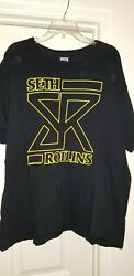 ADULT WWE SETH ROLLINS T SHIRT THE SHIELD WWF ROH AEW WRESTLING TEE XXL