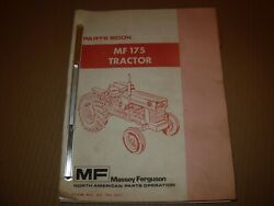 Massey Ferguson Mf 175 Tractor Parts Manual Issued 1975