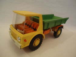 Vintage Very Rare Ussr Friction Plastic And Tin Truck Toy 1412 Mir Soviet