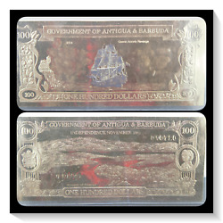 Antigua And Barbuda Gold Banknote 100 Dollars Queen Anne's Revenge