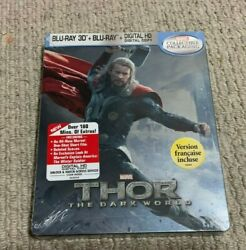 Thor The Dark World 3d + 2d Blu-ray Futureshop Exclusive New And Sealed Mint