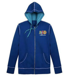 Disney Parks 2020 Mickey Mouse And Friends Zip-up Hoodie Jacket Mens S M L 2xl