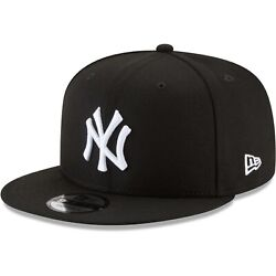 New York Yankees New Era 9Fifty Black White Logo On Field Snapback Hat Cap