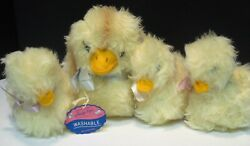 Vintage Marshall Fields Trudy Toys Plush Mother Duck And 3 Ducklings 1970's New
