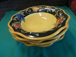 Great Collectible Raymond Waites Tuscan Valley Set Of 4 Soups Bowls