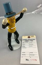 8.75 Antique American Composition And Wood Mr. Peanut Doll Rare 17725
