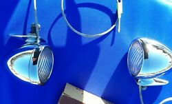 1933 Lincoln Fender Lamps Original Cm Hall  Plated For Show
