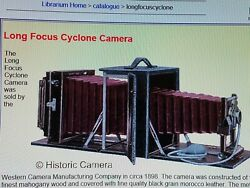 Rochester Camera / Cyclone Camera / With Ii Fxshutter/ With Brass Lens