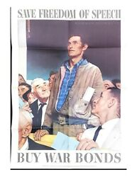 Original Wwii Vintage Posters Package + Norman Rockwell Set World War Ii Usa