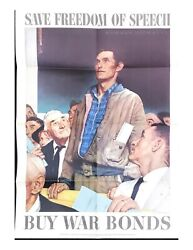 Original Wwii Vintage Posters Package + Norman Rockwell Set, World War Ii Usa