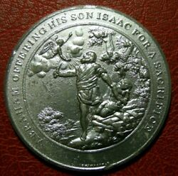 Judeo Christian Abraham Offering His Son For A Sacrifice Medal By Thomason