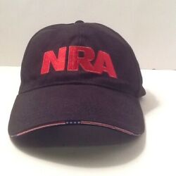 NRA Stand And Fight Cap Hat Black Red Embroidered Adjustable Buckle Strap Flag