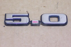 1979 1980and039s 1992 And Other Ford Mustang 5.0 Plastic Fender Emblem Oem Used