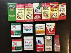 Vtg Mccormick Ann Page French's Frank's Durkee Extract And Spice Tin Lot Of 16