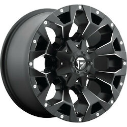 4 20x9 Fuel Assault D546 568 Lug New Black/milled Wheels Free Caps And Lugs