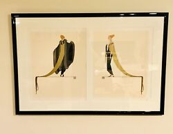 """Art Deco Serigraph """" Ready For The Ball"""" By Erte Signed And Numbered Circa 1982"""
