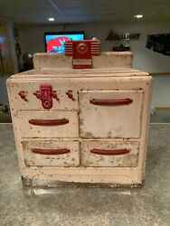 Vintage Rare Metal Prosperity Junior Stove Child's Toy,look At Pics