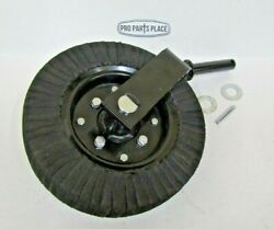 Rotary Cutter Tail Wheel Assembly With 1-1/4 Shaft. Heavy Duty 1 Piece Fork