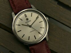 60and039s Vintage Watch Mens Roamer Anfibio Mod. 414-1120 003 Steel Rare 35mm