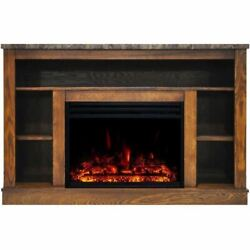 Cambridge Seville Electric Fireplace Heater With 47 Walnut Tv Stand